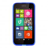 Blue/ Frost Nokia Lumia 530 Flexible Crystal Silicone TPU Case - Conforms To Your Phone Without Stretching Out!