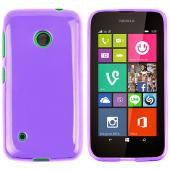 Purple/ Frost Nokia Lumia 530 Flexible Crystal Silicone TPU Case - Conforms To Your Phone Without Stretching Out!