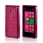 Argyle Hot Pink Crystal Silicone Case for Nokia Lumia 810