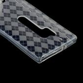 Argyle Clear Crystal Silicone Skin Case for Nokia Lumia 928