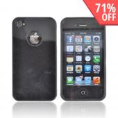 AT&T/ Verizon Apple iPhone 4, iPhone 4S Crystal Silicone Case - Black w/ Metal Flake