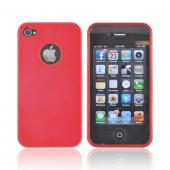 AT&T/ Verizon Apple iPhone 4, iPhone 4S Crystal Silicone Case - Red w/ Metal Flake