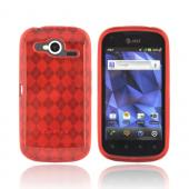 Pantech Burst 9070 Crystal Silicone Case - Argyle Red