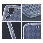Clear Argyle Crystal Silicone Case for Pantech Flex