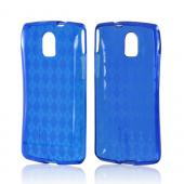 Blue Argyle Crystal Silicone Case for Pantech Discover
