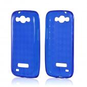 Blue Argyle Crystal Silicone Case for Samsung Galaxy S4