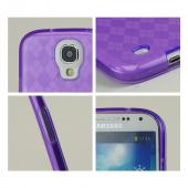Purple Argyle Crystal Silicone Case for Samsung Galaxy S4