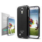 Black CellLine Matte Crystal Silicone Skin Case for Samsung Galaxy S4