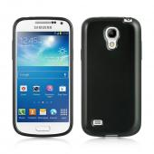 Black (Argyle Interior) Crystal Silicone Skin Case for Samsung Galaxy S4 Mini