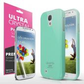 Mint Exclusive CellLine Anti-Slip TPU Crystal Silicone Case + Free Screen Protector for Samsung Galaxy S4