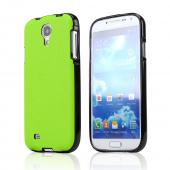 CellLine Lime Green/ Black Crystal Silicone Skin Case w/ Textured Back for Samsung Galaxy S4