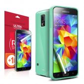 REDShield Samsung Galaxy S5 Mint Anti-Slip TPU Crystal Silicone Case + Free Screen Protector