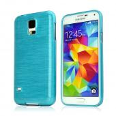 REDShield Blue Teal Striped Samsung Galaxy S5 Flexible Crystal Silicone TPU Case - Conforms To Your Phone Without Stretching Out!