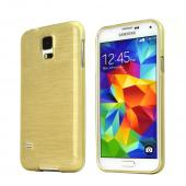 REDShield Gold Striped Samsung Galaxy S5 Flexible Crystal Silicone TPU Case - Conforms To Your Phone Without Stretching Out!