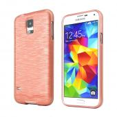 REDShield Rose Gold Striped Samsung Galaxy S5 Flexible Crystal Silicone TPU Case - Conforms To Your Phone Without Stretching Out!