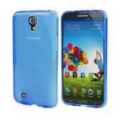 Blue Crystal Silicone Skin Case for Samsung Galaxy Mega 6.3