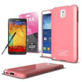 Baby Pink CellLine Anti-Slip TPU Crystal Silicone Skin Case & Free Screen Protector for Samsung Galaxy Note 3
