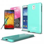 Mint CellLine Anti-Slip TPU Crystal Silicone Skin Case & Free Screen Protector for Samsung Galaxy Note 3