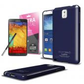 Navy Anti-Slip TPU Crystal Silicone Skin Case & Free Screen Protector for Samsung Galaxy Note 3