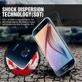Samsung Galaxy S6 Case,  [Hot Pink S Design]  Slim & Flexible Anti-shock Crystal Silicone Protective TPU Gel Skin Case Cover
