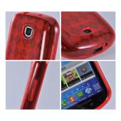 Samsung Galaxy Stellar Crystal Silicone Case - Argyle Red