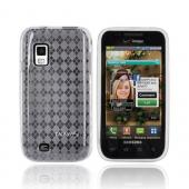Luxmo Samsung Fascinate i500 Crystal Silicone Case - Argyle Print Clear