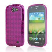 Hot Pink Argyle Crystal Silicone Case for Samsung Rugby Pro