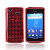 Samsung Captivate i897 Crystal Silicone Case - Argyle Red