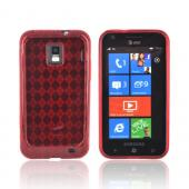 Samsung Focus S i937 Crystal Silicone Case - Argyle Red