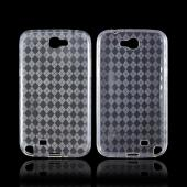 Samsung Galaxy Note 2 Crystal Silicone Case - Argyle Clear