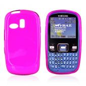 Samsung Freeform R350/351 Crystal Silicone Case - Snowflake Design Pattern on Transparent Hot Pink