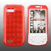 Samsung Behold 2 T939 Crystal Silicone Case - Argyle Print on Transparent Red