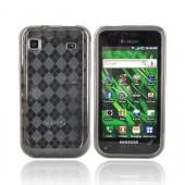 Luxmo Samsung Galaxy S 4G / Vibrant Crystal Silicone Case - Smoke Argyle Diamonds
