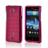 Hot Pink Argyle Crystal Silicone Case for Sony Xperia TL