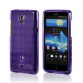 Purple Argyle Crystal Silicone Case for Sony Xperia TL