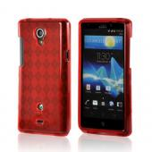 Red Argyle Crystal Silicone Case for Sony Xperia TL