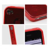 Apple Verizon/ AT&T iPhone 4, iPhone 4S Crystal Silicone Case - Argyle Red