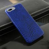 Apple iPhone 7 Plus (5.5 inch) Case, Incircle [Bareskin Series] Ultra Slim Fit Faux Leather Flexible Bumper Case [Blue Alligator]