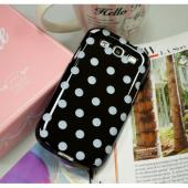 Black/ White Polka Dots Anti-Slip Dot Jelly Series Crystal Silicone Case for Samsung Galaxy S3