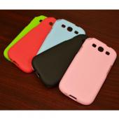 Lime Green Super Premium Anti-Slip Crayon Series Crystal Silicone Case for Samsung Galaxy S3