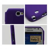 Purple Super Premium Anti-Slip Crayon Series Crystal Silicone Case for Galaxy Note 2