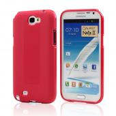 Red Super Premium Anti-Slip Crayon Series Crystal Silicone Case for Galaxy Note 2