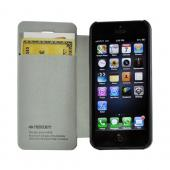 Black Ultra Slim Faux Leather Diary Flip Case for Apple iPhone 5