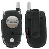 Motorola V180 / V188 Premium Black Leather Case