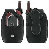 Motorola V551 Premium Leather Case - Black