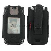Motorola Razr2 V8 Premium Leather Case - Black