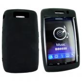 Blackberry Storm 2 9520 Silicone Case, Rubber Skin - Black