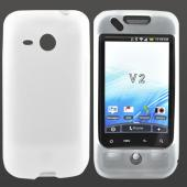 HTC Droid Eris 6200 Silicone Case, Rubber Skin - Frost White