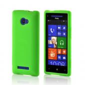 Neon Green Silicone Case for HTC 8X