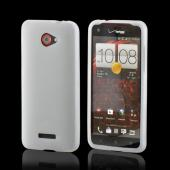 White Silicone Case for HTC Droid DNA